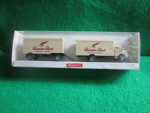 WIKING MERCEDES BENZ TRUCK & TRAILER (1:87 SCALE) LOT Y59 BOXED