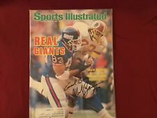 MARK BAVARO SIGNED 1986 SPORTS ILLUSTRATED/ NOTE DAME, NEW YORK GIANTS TE