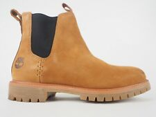 Mens Timberland 6 Inch Premium Chelsea A1PBT Tan Leather Pull On Boots