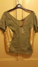 Ladies Size 12 Limited Collection (M&S)  Top khaki NEW