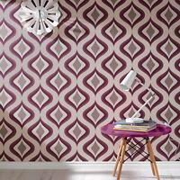 Superfresco Easy Paste the wall Trippy Retro Print Purple Wallpaper (Was £16)
