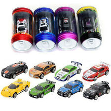 US-Coke Can Mini RC Radio Remote Control Speed Micro Racing Car Vehicle Toy Gift