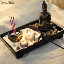 Zen Garden Kit Decor Meditation Sand Rocks Incense Candle Holder Rake Feng Shui