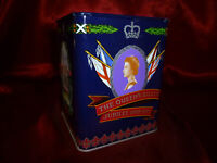 Jacksons Piccadilly QUEEN ELIZABETH & PRINCE PHILIP SILVER JUBILEE 8oz Tea TIN