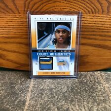 CARMELO ANTHONY 4 COLORED PATCH. PERFECT CONDITION. COURT AUTHENTICS # 06/70.