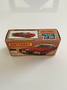 Matchbox Superfast No28 Lincoln Continental. Box And Car Are Mint