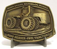 *John Deere 9400 4WD 9000 Series Tractor Brass Belt Buckle 1996 Waterloo Works