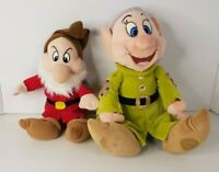 Disney Store Disneyland Dopey and Grumpy Soft Plush Toys - Seven Dwarfs