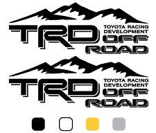 2X TRD OFF ROAD RACING DEVELOPMENT DECAL STICKER TACOMA TUNDRA TRUCK