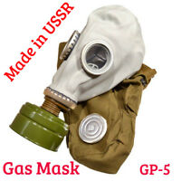 Soviet Russian Military Gas Mask GP-5. Grey Rubber. 4pcs Set. ANY SIZE, new