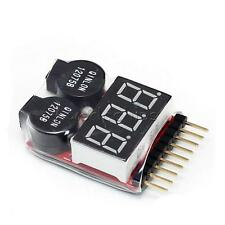 1-8S 2 in1 RC Li-ion Lipo Battery Low Voltage Meter Tester Buzzer Alarm