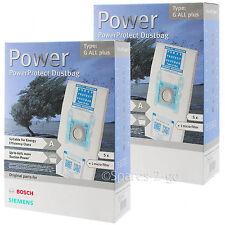 10 x Bosch Original Todo Tipo G Bolsas de Vacío powerprotect Paño Hoover Bolsa + Filtro