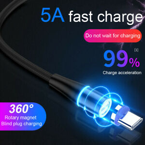 5A Super Magnetic Charging Cable 360° Typ-C Micro USB Cable For Samsung Huawei