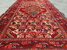 Authentic Hand Knotted Vintage Pictorial Serapi Ceena Wool Area Rug 4 x 3 Ft