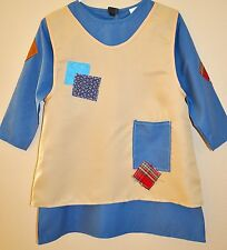 New Kids Annie  Orphan costume  Size 6-8 Years Old  Blue / Beige Fabric