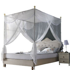 mosquito net for summer bed netting & stainless steel frames Luxury canopy White