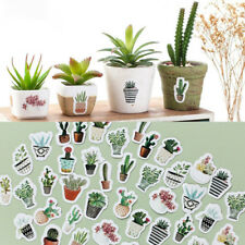 45pcs/pack Pot Cultured Green Plants DIY Diary Album Stick Label Stickers Hot