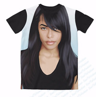 New Fashion Womens/Mens Aaliyah Funny 3D Print Casual T-Shirt HT515