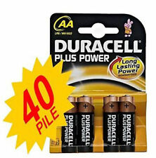 40 PILE STILO DURACELL PLUS POWER  AA KIT 10 BLISTER DA 4PZ