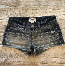 NWOT! Victorias Secret Pink Rhinestone Denim Shorts Sz 0