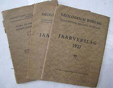Lot 3 Science Geology Netherlands Heerlen Dutch Flora Fauna Illus. Folded Plates