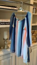 Chloe Girl's Blue Rainbow Silk Top Size 12