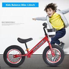 "12"" Carbon Steel Kids Balance Training Bike For Toddler Girls Boys"