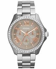 Fossil Women's AM4628 Cecile Multi-Function Beige Dial Stainless Steel Watch
