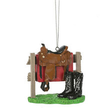 Western Saddle & Boots Ornament