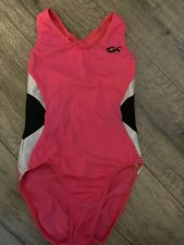 New listing gk gymnastics leotard child large hot pink