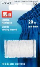 Prym Elastic - Nähfaden 20 m weiß Nähgarn elastisch umflochten  970026