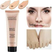 1Pc Natural Brighten Base Makeup Concealer Long Lasting Face Foundation BB Cream