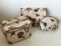 UK Hand Made Fully Lined Floral Theme Oilcloth Purses Pencil /& Glass Cases