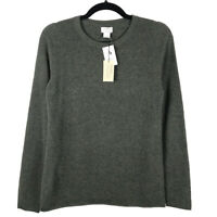 NWT J. Crew 100% Cashmere Crewneck Pulllover Sweater Green Size Small
