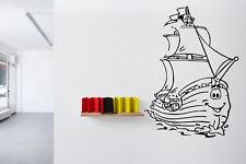 Wall Nursery Decor Art Vinyl Sticker Mural Decal Ship Boat Sailboat Ocean O45