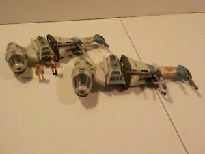 Star Wars Action Fleet B-Wing Starfighter Galoob 1996 Lot X2 w Admiral Ackbar
