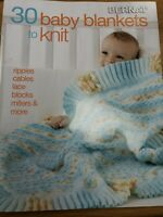 30 Baby Blankets to Knit by Bernat Yarns New