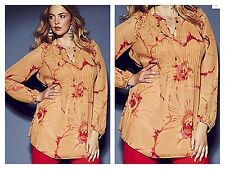Simply Be Size 14 16 Anna Scholz Floral Print Blouse & Cami Top Occasion Holiday
