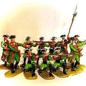 Barzso Play Sets- French And Indian Wars-metal Toy Soldiers-Compatible Britains