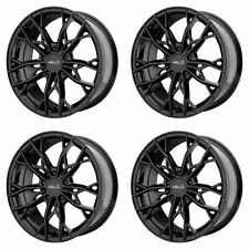 "4x Helo 17x7 HE907 Wheels Gloss Black 5x4.5 5x114.3 PCD +38mm Offset 5.50""BS"