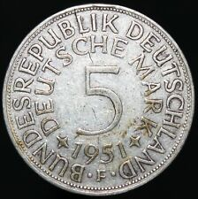 1951 F | Germany 5 Mark | Silver | Coins | KM Coins