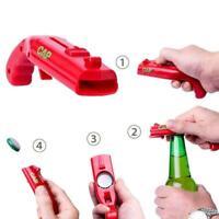 Firing Cap Gun Flying Cap Launcher Bottle Beer Opening Shooter Gifts Jar UK Q9W5