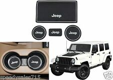 White Cup Holder Console Non-Slip Mats For 2007-2016 Jeep Wrangler New Free Ship