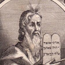 Portrait XVIIIe Moïse Moses Bible Prophète Mωϋσῆς Моисей 1751 משה בן עמרם