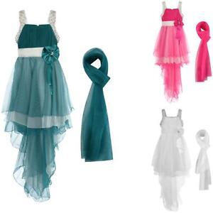 Filles robe de soirée de bal demoiselle d'honneur formelle longue écharpe 2-13