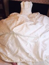 ❤️ Stunning Arabella Silk Ivory Embellished Hollywood Dreams Wedding Dress  ❤️