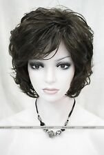 Hivision Dark Brown short Women Ladies Daily Natural Fluffy Wig FTTLD140