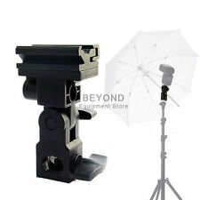 Photo Flash Swivel Speedlite Bracket Hot Shoe Umbrella Holder for Canon Nikon
