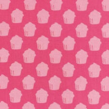 BY YARD-Baked with Love Cupcake Valentine Fabric Robert Kaufman 14420-10 Pink
