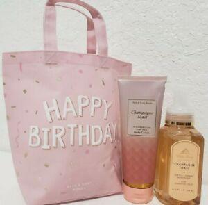 Bath & Body Works HAPPY BIRTHDAY  SET CHAMPAGNE TOAST, Body cream , foaming soap